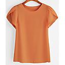 ieftine Ceasuri La Modă-tricou pentru femei subțire - gât rotund solid colorat