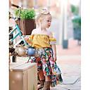 povoljno Kompletići za bebe-Dijete Djevojčice Osnovni Dnevno / Praznik Cvjetni print Print Kratkih rukava Regularna Pamuk / Poliester Komplet odjeće Bijela 100 / Dijete koje je tek prohodalo