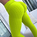 cheap Slipcovers-Women's Jacquard Yoga Pants Grey Daffodil Dark Green Sports Fashion Cotton Tights Leggings Zumba Running Fitness Activewear Lightweight Push Up Tummy Control High Elasticity Skinny