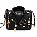 cheap Jewelry Sets-Women's Bags PU(Polyurethane) Shoulder Bag Zipper Black