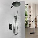 povoljno Slavine za tuš-Slavina za tuš - Suvremena Slikano završi Zidne slavine Brass ventila Bath Shower Mixer Taps / Jedan obrađuju tri rupe