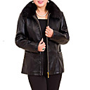 cheap Women's Boots-Women's Basic Leather Jacket - Solid Colored