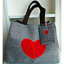 cheap Top Handles & Tote Bags-Women's Tote Canvas Cartoon Black / Gray