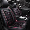 זול כיסויי למושבים לרכב-ODEER כיסויי למושבים לרכב כיסויים שחור / אדום טֶקסטִיל / דמוי עור- סקאי נפוץ עבור אוניברסלי כל השנים כל הדגמים
