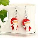 cheap Earrings-Girls' Drop Earrings - Resin Santa Ladies, Cartoon, Fashion, Cute, Daughter Jewelry Red For Christmas / 1 Pair