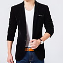 cheap Men's Oxfords-Men's Party / Daily / Work Regular Blazer, Solid Colored Shawl Lapel Long Sleeve Polyester Blue / Black / Wine XL / XXL / XXXL / Slim
