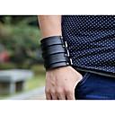 cheap Men's Bracelets-Men's Layered Retro Vintage Bracelet Leather Bracelet - Creative Stylish, Vintage, Punk Bracelet Black For Gift Street