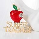 tanie Modne naszyjniki-Damskie Klasyczny Broszki - Kryształ górski Jabłko Prosty, Podstawowy Broszka Złoty Na Święta