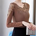 abordables Tocados de Fiesta-blusa de mujer - cuello redondo de color sólido