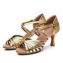 رخيصةأون أحذية لاتيني-نسائي أحذية رقص PU كعب كعب كوبي مخصص أحذية الرقص ذهبي / فضي