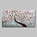 저렴한 추상화-항으로 그린 유화 손으로 그린 - 추상적인 플로랄 / 보타니칼 우아한 내부 프레임 포함 / 뻗어있는 캔버스