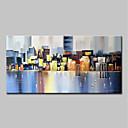 povoljno Apstraktno slikarstvo-Hang oslikana uljanim bojama Ručno oslikana - Sažetak Pejzaž Moderna Bez unutrašnje Frame / Valjani platno