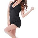 お買い得  人工毛キャップレスウィッグ-女性用 スーツ ナイトウエア メッシュ, ソリッド / ホルター