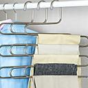 Недорогие Хранение одежды-Нержавеющая сталь Многофункциональный Одежда Вешалка, 2pcs