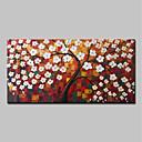זול ציורים מופשטים-ציור שמן צבוע-Hang מצויר ביד - מופשט פרחוני / בוטני מודרני כלול מסגרת פנימית / בד מתוח