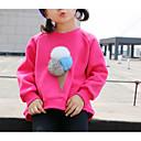 זול חולצות לבנות-חולצה שרוול ארוך אחיד בנות ילדים