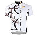cheap Cycling Jerseys-ILPALADINO Men's Short Sleeve Cycling Jersey White Bike Jersey Top Breathable Quick Dry Ultraviolet Resistant Sports 100% Polyester Mountain Bike MTB Road Bike Cycling Clothing Apparel / Back Pocket