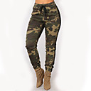 cheap Mascaras-Women's Skinny Chinos / Sweatpants Pants - Camouflage High Waist Yellow