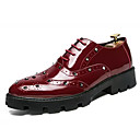 cheap Men's Oxfords-Men's Comfort Shoes PU(Polyurethane) Fall Oxfords Black / Red