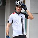 halpa Pyöräilyjerseyt-Nuckily Miesten Lyhythihainen Pyöräily jersey - Musta ja valkoinen Patchwork Pyörä Jersey Topit, Nopea kuivuminen Etuvetoketju Käytettävä, Kevät Kesä, 100% polyesteri / Hengittävä / Hengittävä