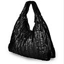 رخيصةأون حقائب كروس-للمرأة أكياس جلد حقيبة الكتف سحاب أسود