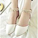 baratos Sapatilhas Femininas-Mulheres Sapatos Confortáveis Couro Ecológico Primavera & Outono Rasos Sem Salto Branco / Roxo / Rosa claro