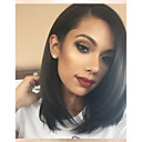 cheap Human Hair Wigs-Human Hair Lace Front Wig Brazilian Hair Burmese Hair Straight Wig Bob 130% Density with Baby Hair Women Easy dressing Best Quality Hot Sale Natural Women's Short Human Hair Lace Wig