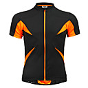 cheap Bike Lights & Reflectors-Jaggad Men's Women's Unisex Short Sleeve Cycling Jersey - Black / Orange Patchwork Bike Jersey Top, Breathable Quick Dry Polyester Elastane