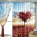 cheap 3D Duvet Covers-Modern 3D Curtains Two Panels Curtain / Blackout / Bedroom