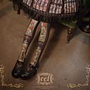 hesapli Lolita Aksesuarları-Çoraplar Vintage Kadın's Siyah Eski Tip Çoraplar Pamuk / Polyester Kostümler