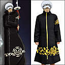 cheap Anime Action Figures-Inspired by One Piece Trafalgar Law Anime Cosplay Costumes Cosplay Suits Print Long Sleeve Coat For Men's / Women's Halloween Costumes