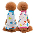 cheap Dog Clothes-Dogs / Cats Pajamas Dog Clothes Cartoon / Stars Green / Blue / Pink Cotton Costume For Pets Unisex Sweet Style / Casual / Daily