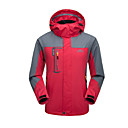cheap Softshell, Fleece & Hiking Jackets-Men's Hoodie & Sweatshirt Hiking Jacket outdoor Autumn / Fall Spring Winter Windproof Rain-Proof Breathability Wearable 100% Polyester Jacket Top Single Slider Camping / Hiking Outdoor Exercise