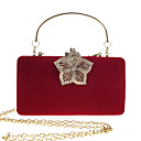 cheap Clutches & Evening Bags-Women's Bags Velvet Evening Bag Buttons / Crystals Solid Color Fuchsia / Camel / Wine
