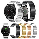baratos Smartwatch Acessórios-Pulseiras de Relógio para Fenix 5 Garmin Fecho Clássico Metal / Aço Inoxidável Tira de Pulso