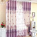 billige Mørkleggingsgardiner-gardiner gardiner Soverom Blomstret / Geometrisk Polyester Reaktivt Trykk