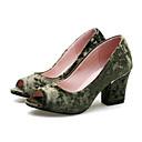 baratos Sapatos de Dança Latina-Mulheres Sapatos Confortáveis Camurça Primavera Saltos Salto Robusto Preto / Vermelho / Verde