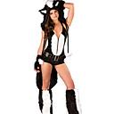 halpa Ura & Ammatti Puvut-univormut Fox Girl Cosplay-Asut Juhla-asu Asu Fancy puku Aikuiset Lukio Naisten Cosplay Halloween Halloween Karnevaali Masquerade Festivaali / loma Muu materiaali Spandex Musta Karnevaalipuvut Color