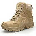 זול נעלי ספורט לגברים-בגדי ריקוד גברים נעלי נוחות עור סתיו חורף ספורטיבי נעלי אתלטיקה טיפוס ללא החלקה חום / ירוק / חאקי