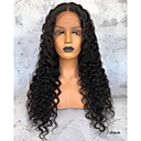 cheap Human Hair Wigs-Virgin Human Hair 360 Frontal Wig Deep Parting Brazilian Hair Wavy Wig 150% Density Natural Women's Long Human Hair Lace Wig Premierwigs