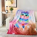 levne Tenké deky a přehozy-Pohovka rozházet, Galaxie / 3D tisk Polyester / polyamid Pohodlný přikrývky