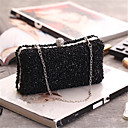 cheap Clutches & Evening Bags-Women's Bags Polyester Clutch Crystals Champagne / Black / Silver