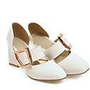 preiswerte Clutches & Abendtaschen-Damen Komfort Schuhe PU Sommer High Heels Blockabsatz Weiß / Schwarz / Rosa