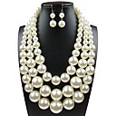 cheap Jewelry Sets-Women's Classic Jewelry Set - Imitation Pearl Luxury, Elegant Include Bridal Jewelry Sets White For Wedding Party