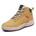 tanie Kozaki męskie-Męskie Komfortowe buty Skóra Zima Casual Botki Zatrzymujący ciepło Czarny / Żółty / Ciemnobrązowy