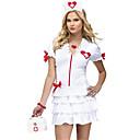 abordables Déguisement Halloween-Déguisement Halloween Femme Uniformes Infirmière Cosplay Halloween Costume de Cosplay Costume de Soirée Costume Noël Halloween Carnaval Blanc Costumes Carnaval