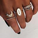 povoljno Modne narukvice-Žene Prestenje knuckle ring Prstenasti set Prsten za više prstiju 5pcs Zlato Srebro Smola Legura Ovalnog dame Vintage Punk Dar Dnevno Jewelry Retro MOON Cool