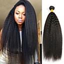 tanie Dopinki naturalne-3 zestawy Włosy mongolskie Yaki Straight 8A Włosy naturalne Nieprzetworzone włosy naturalne Fale w naturalnym kolorze Pakiet włosów Pakiet One Solution 8-28 in Kolor naturalny Ludzkie włosy wyplata