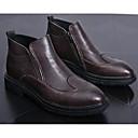 abordables Botas de Hombre-Hombre Zapatos Confort PU Otoño invierno Botas Botines / Hasta el Tobillo Negro / Café