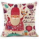 baratos Almofadas de Decoração-Cobertura de Almofada Natal Algodão Quadrada Novidades Decoração de Natal